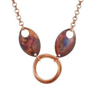 Feather Goddess Collar – Copper Slave Collar