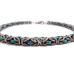 The Niobium Byzantine Chainmail Bracelet