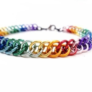 Rainbow Bond Chainmail Bracelet