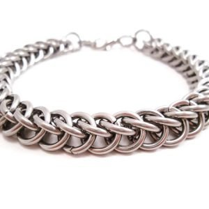 The Braided Shackle Stainless Steel Chain Bracelet