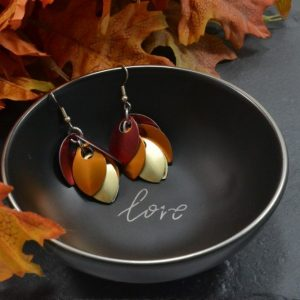 Falling Leaves Autumn Leaf Earrings