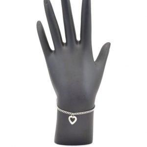 Unchained Heart Silver Heart Charm Bracelet