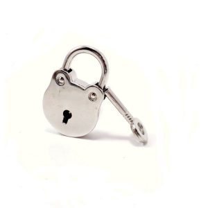 Round Silver Lock and Keys for Locking Collar Jewelry