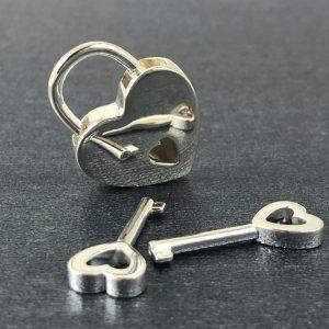 Sterling Silver Heart Shaped Padlock