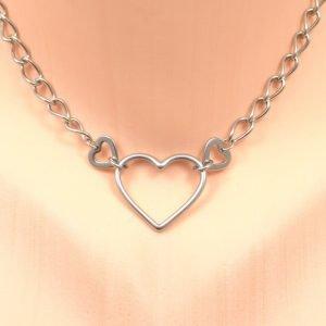 Heart Strings Stainless Steel Heart Collar for Women