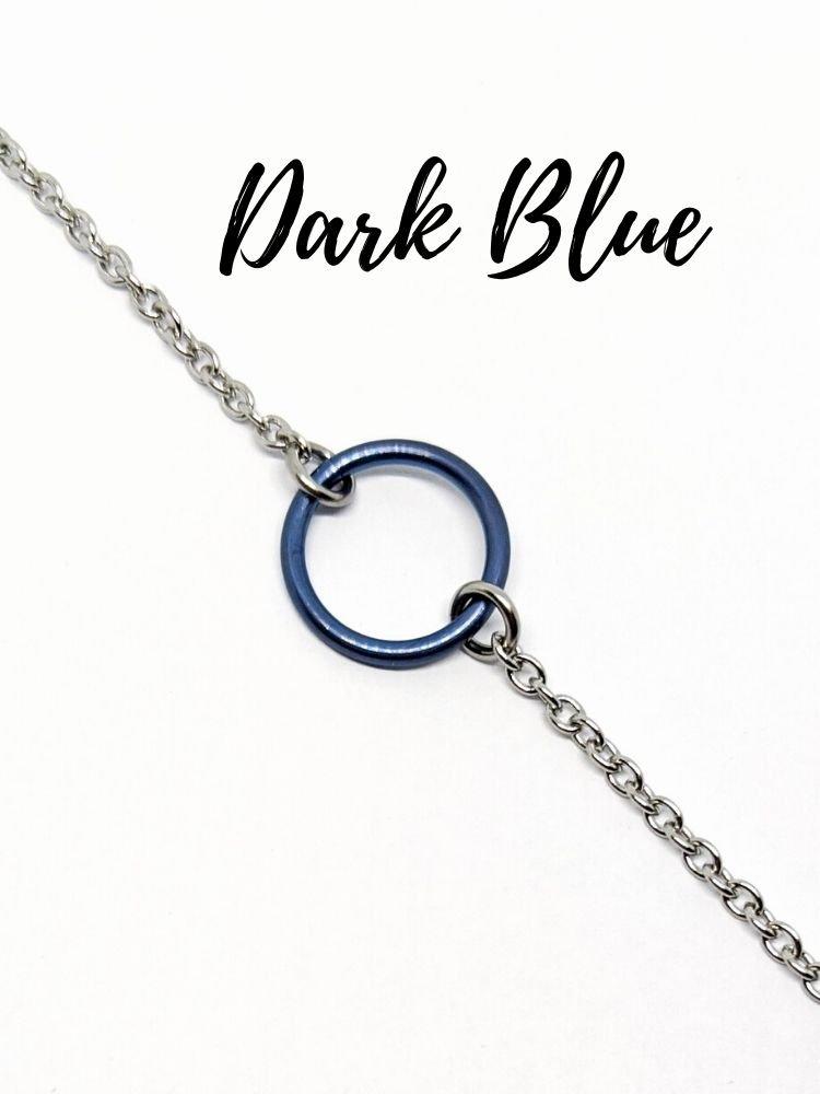 blue titanium day collar