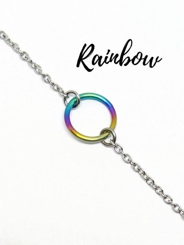 Rainbow titanium day collar