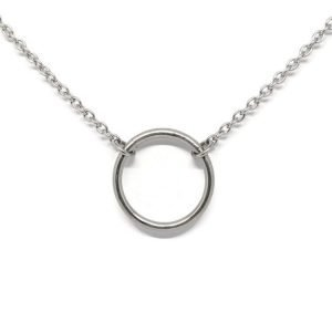Eternity Ring Stainless Steel Day Collar