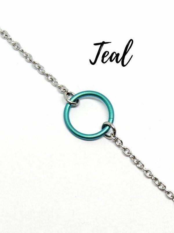 teal titanium day collar