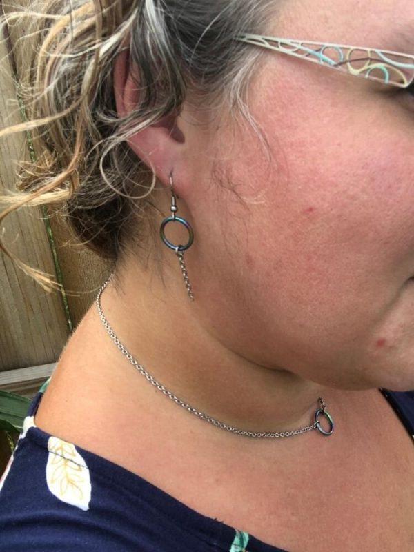 rainbow eternity ring submissive jewelry