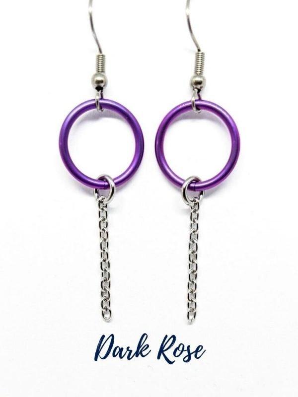 Rose cirlce earrings