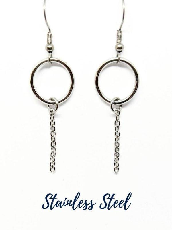 Stainless Steel Circle Earrings