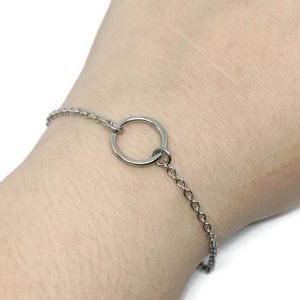 eternity ring slave bracelet in silver