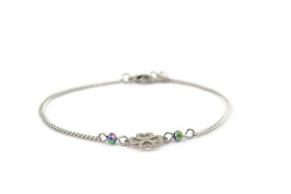 celtic clover bracelet in stainless steel