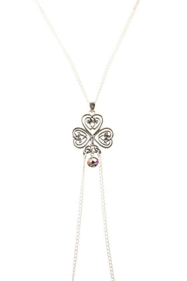 clover celtic knot nipple jewelry up close by serenity in chains