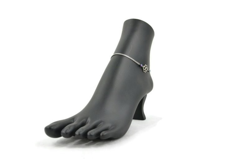 clover slave anklet in stainless steel by serenity in chains