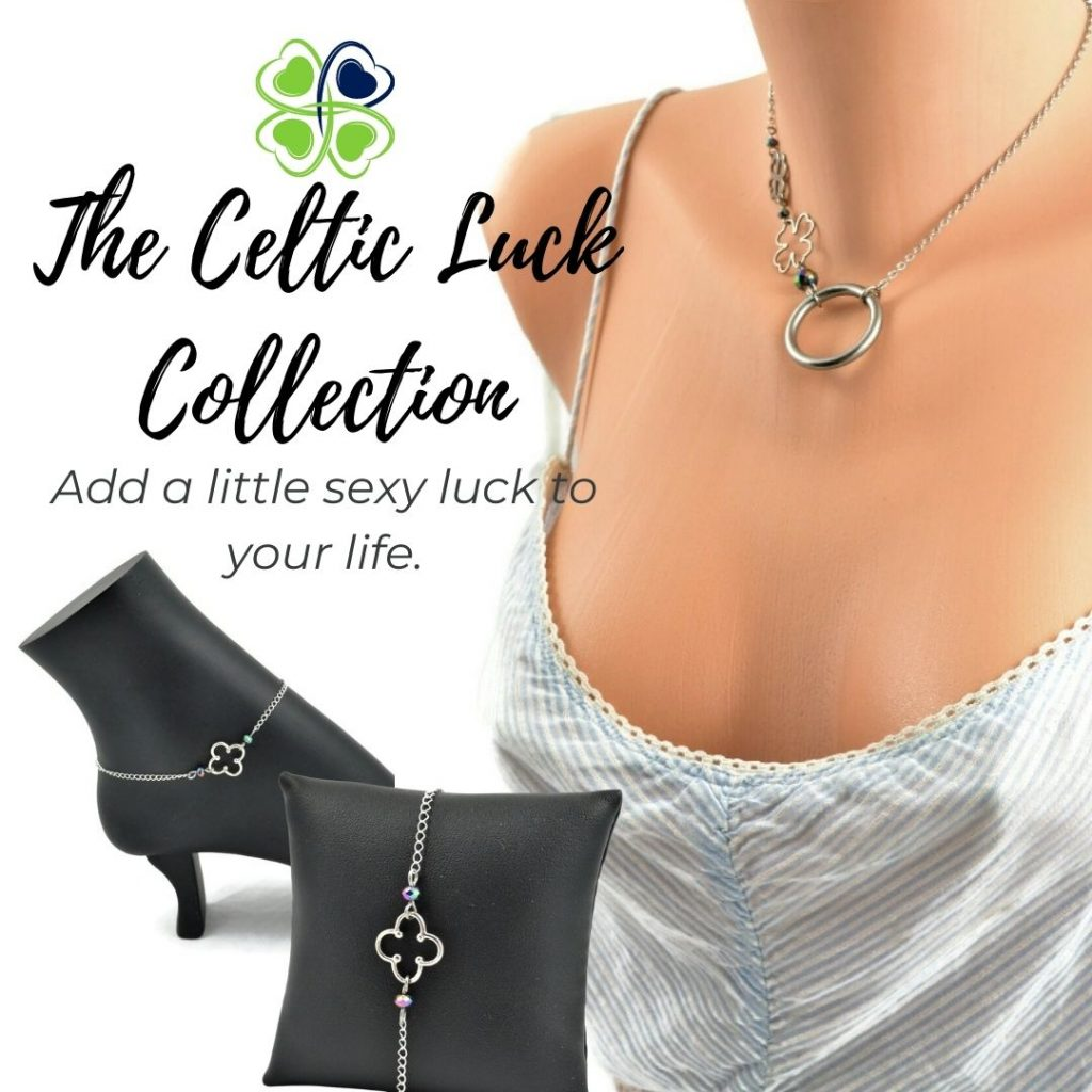 Celtic Luck Discreet Day collar and no piercing nipple jewelry collection