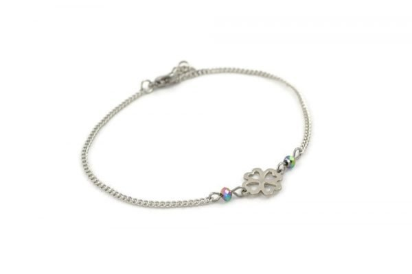 stainless steel clover bracelet by serenity in chains