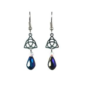 Triquetra Celtic Knot Earrings in Stainless Steel