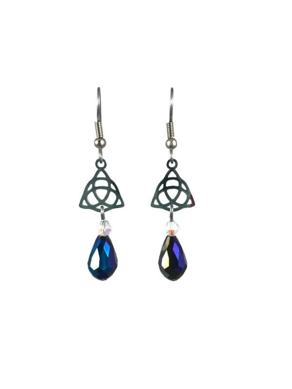 Celtic knot earrings in stainless steel celtic luck by serenity in chains