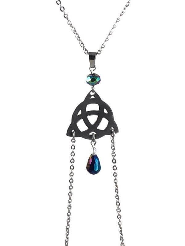 celtic knot nipple jewelry non piercing stainless steel celtic luck by serenity in chains