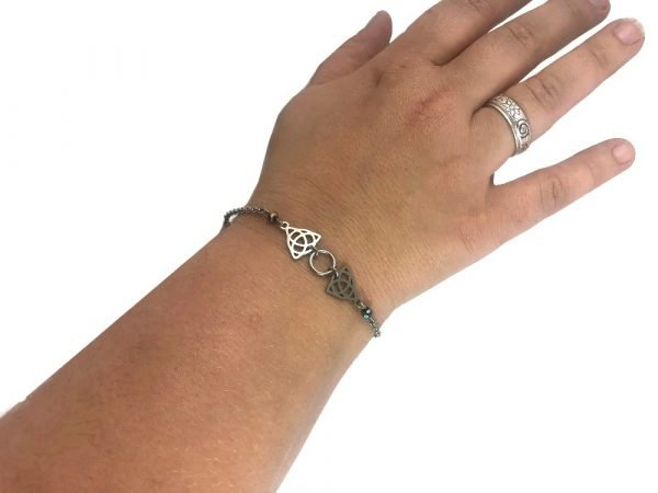 hypoallergenic celtic knot bracelet stainless steel celtic luck by serenity in chains