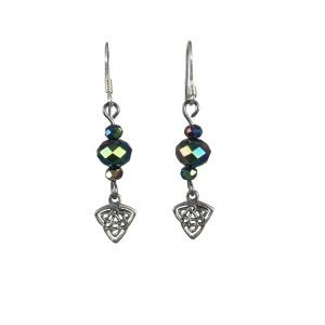 Sterling Silver Triquetra Celtic Knot Earrings