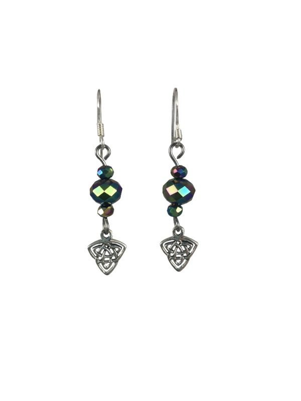 sterling silver celtic knot earrings serenity in chains