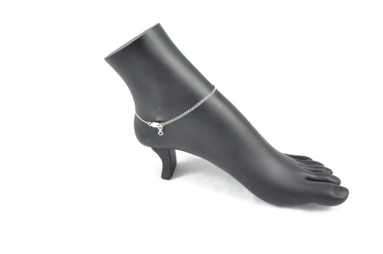 triquetra sterling silver ankle bracelet celtic luck by serenity in chains